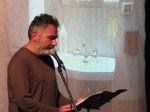 Gianni Montieri, scrittore a un reading. (foto pubblicata per gentile concessione dell'autore)copyright Gianni Montieri