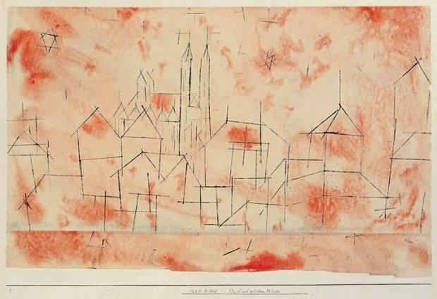 Paul Klee. Città con cattedrale gotica.